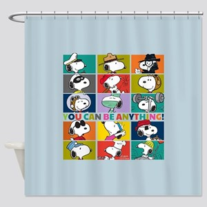 Snoopy-You Can Be Anything Shower Curtain