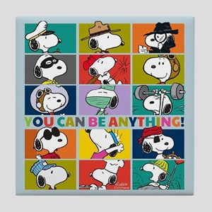 Snoopy-You Can Be Anything Tile Coaster