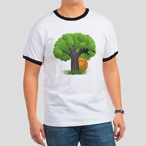 Woolly Moo behind tree T-Shirt