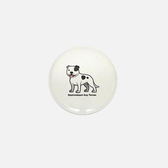 Funny Bull dogs Mini Button