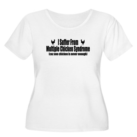 Multiple Chicken Syndrome Women's Plus Size Scoop