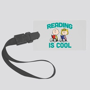 Charlie & Sally Brown-Reading is Large Luggage Tag