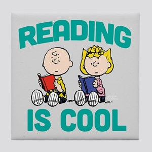 Charlie & Sally Brown-Reading is Cool Tile Coaster