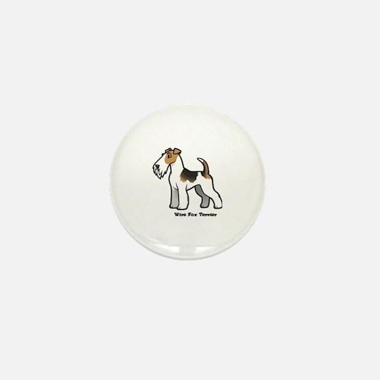 Cute Fox terrier Mini Button