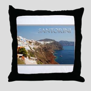 Oia Greece Santorini Island Travel Throw Pillow