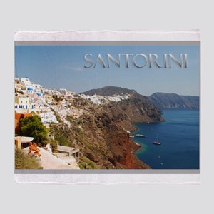 Oia Greece Santorini Island Travel Throw Blanket