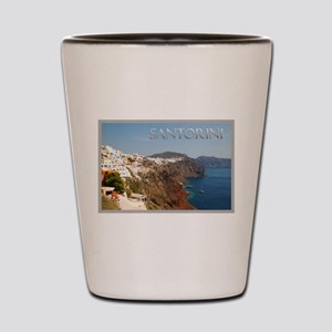 Oia Greece Santorini Island Travel Shot Glass