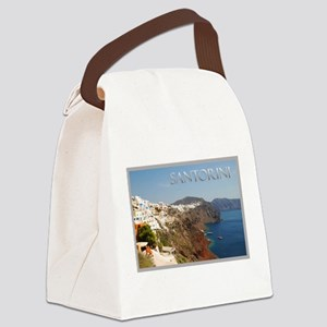 Oia Greece Santorini Island Travel Canvas Lunch Ba