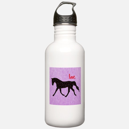 Horse Love and Hearts Water Bottle