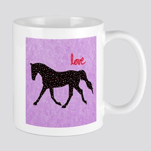Horse Love and Hearts Stainless Steel Travel Mugs