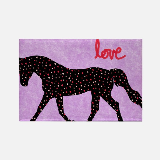 Horse Love and Hearts Magnets