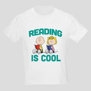 Charlie & Sally Brown-Reading i Kids Light T-Shirt