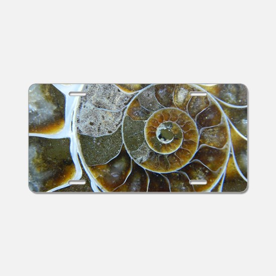 Ammonite Aluminum License Plate