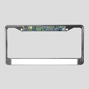 Van Gogh Iris License Plate Frame