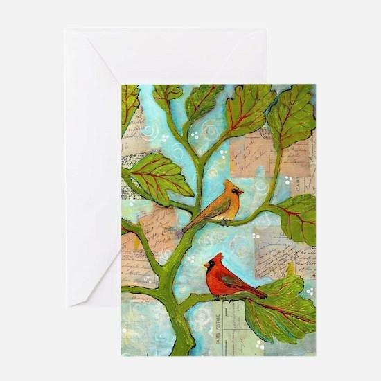 Cardinal Birds Love Notes Greeting Cards