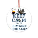 keep calm duhamel Round Ornament