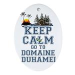keep calm duhamel Oval Ornament