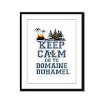 keep calm duhamel Framed Panel Print