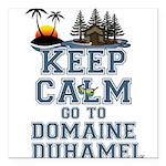 keep calm duhamel Square Car Magnet 3