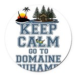 keep calm duhamel Round Car Magnet