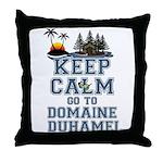 keep calm duhamel Throw Pillow