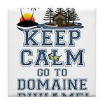 keep calm duhamel Tile Coaster
