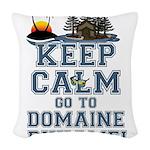 keep calm duhamel Woven Throw Pillow