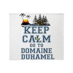 keep calm duhamel Throw Blanket