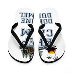 keep calm duhamel Flip Flops