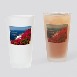 Santorini Greece Island Travel Drinking Glass