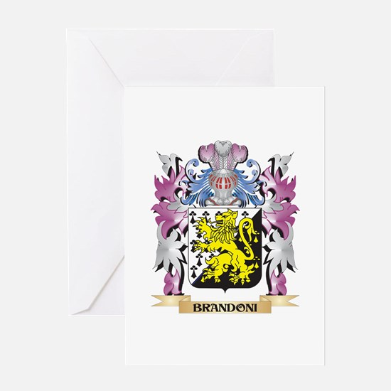 Brandoni Coat of Arms (Family Crest Greeting Cards
