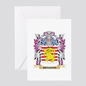 Brandon Coat of Arms (Family Crest) Greeting Cards