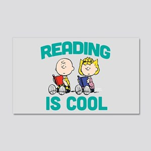 Charlie & Sally Brown-Reading is 20x12 Wall Decal