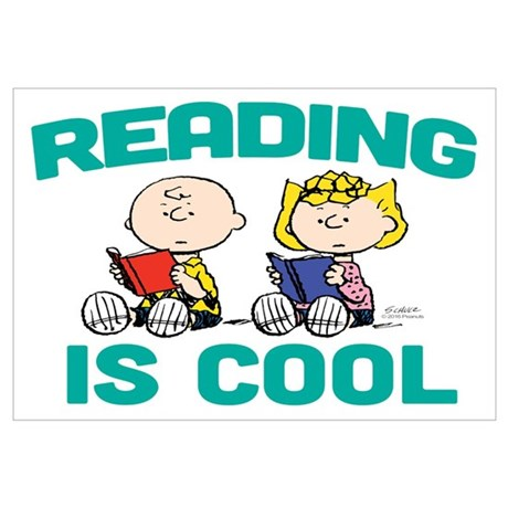 sally brown reading is cool wall art poster rh cafepress com Reading Books Clip Art Challenge Clip Art