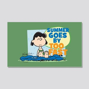 Lucy-Summer Goes By Too Fast 20x12 Wall Decal