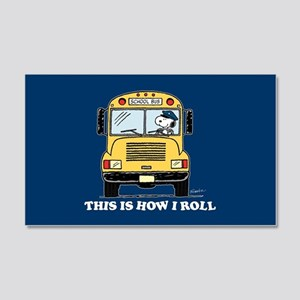 Snoopy - This Is How I Roll 20x12 Wall Decal