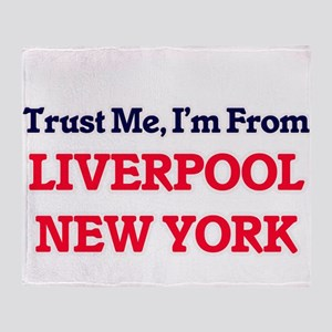 Trust Me, I'm from Liverpool New Yor Throw Blanket