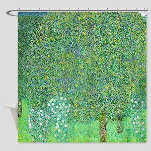 Gustav Klimt - Rosebushes under the Shower Curtain