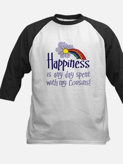 HAPPINESS IS DAY W/ MY COUSINS Kids Baseball Jerse