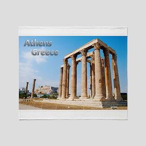 Athens Greece Travel Throw Blanket