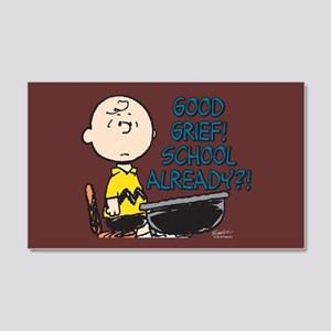 Charlie Brown - Good Grief! Schoo 20x12 Wall Decal