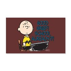 Charlie Brown - Good Grief! Schoo Wall Decal