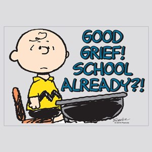 Charlie Brown - Good Grief! School Alread Wall Art