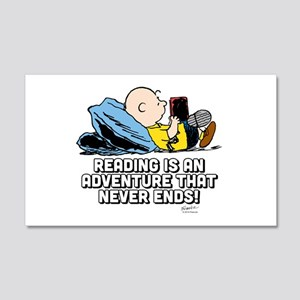 Charlie Brown - Reading is an Adv 20x12 Wall Decal