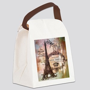 Eiffel tower collage Canvas Lunch Bag