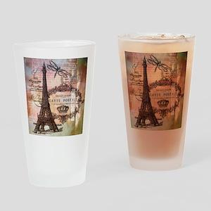 Eiffel tower collage Drinking Glass