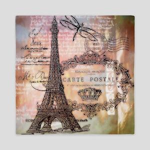 Eiffel tower collage Queen Duvet