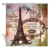 Eiffel tower Shower Curtains