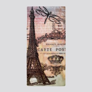 Eiffel tower collage Beach Towel