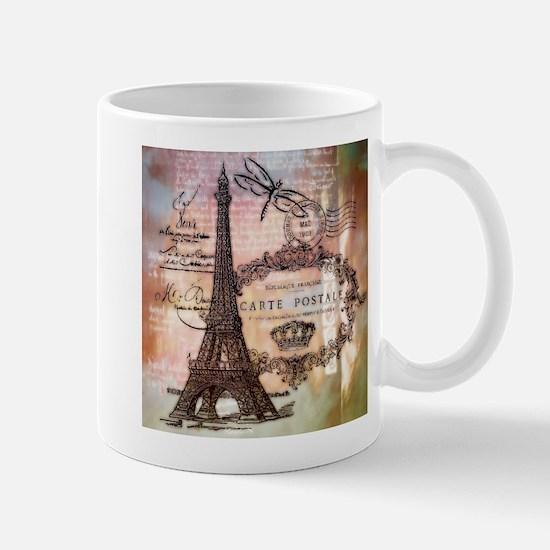 Eiffel tower collage Mugs